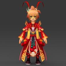 Cartoon Character King Bunda 3D Model
