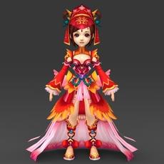 Cartoon Character Queen Bandi 3D Model
