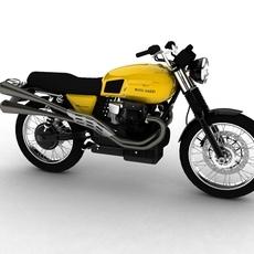 Moto Guzzi V7 Scrambler 2012 3D Model