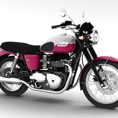 Triumph Bonneville T100 2012 3D Model
