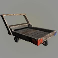 wood pushcart 3D Model