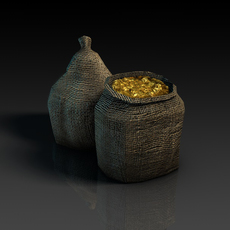 Bags of coins 3D Model