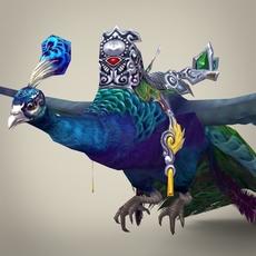 Fantasy Warrior Peacock 3D Model