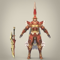 Fantasy Warrior Torcha 3D Model