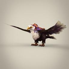 Fantasy King Eagle 3D Model