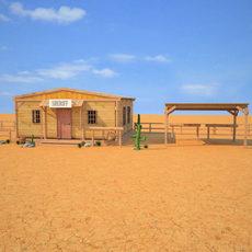 Wild West RailStation Sheriffs Office 03 Set 3D Model