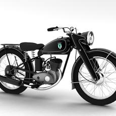 DKW RT125 1950 3D Model