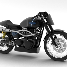 Triumph Thruxton Cup 2012 3D Model