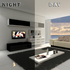 living room 12 Day & night 3D Model