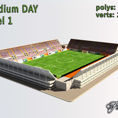 Stadium Level 1 Day 3D Model