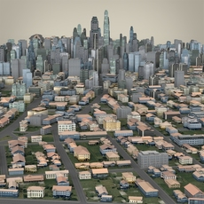 Metropolitan Cityscape 3D Model