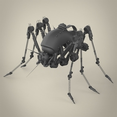 Robotic Spider 3D Model