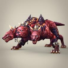 Fantasy Monster Dog Bambusa 3D Model