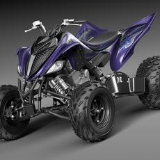 Yamaha Raptor 700s 2014 Quad 3D Model