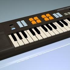 Retro Casio Keyboard 3D Model