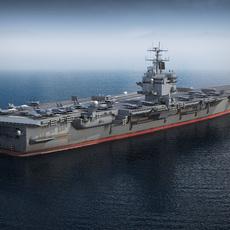 USS Enterprise CVN-65 Carrier 3D Model