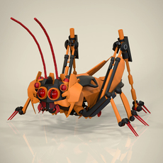 Robotic Grasshopper 3D Model