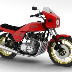 Benelli 900 Sei 1984 3D Model