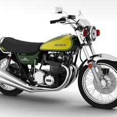 Kawasaki Z1 900 1972 3D Model