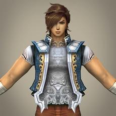 Fantasy Young Dancer Pauhca 3D Model