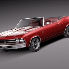 Chevrolet Chevelle SS convertible 1969 3D Model