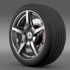 Mercedes Benz AMG GT S wheel 3D Model