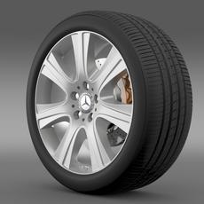 Mercedes Benz S 600 guard wheel 3D Model