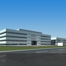 High-Rise Office Building 007 3D Model