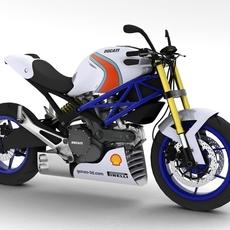 Ducati Monster Racer 796 2012 3D Model