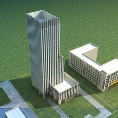 High-Rise Office Building 050 3D Model