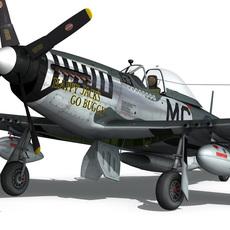 North American P-51D Mustang - Happy Jack's go Buggy 3D Model