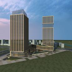High-Rise Office Building 061 3D Model