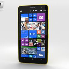 Nokia Lumia 1320 Yellow 3D Model