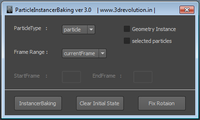 Instancer Baking for Maya 3.0.1 (maya script)