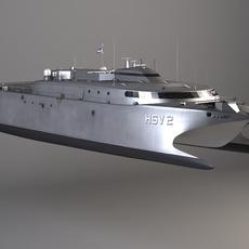 US Navy HSV-2 Swift 3D Model