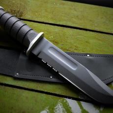 KA-BAR USMC combat knife (black) 3D Model