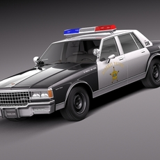 Chevrolet Caprice Sheriff 1978 Police Car 3D Model