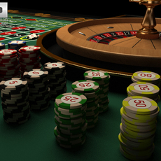 Casino Roulette Table 3D Model