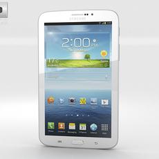 Samsung Galaxy Tab 3G 3 7-inch White 3D Model
