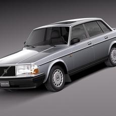 Volvo 240 sedan 1993 3D Model