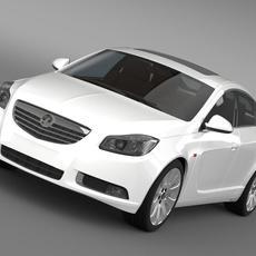 Vauxhall Insignia ecoFLEX Hatchback 2009-2013 3D Model