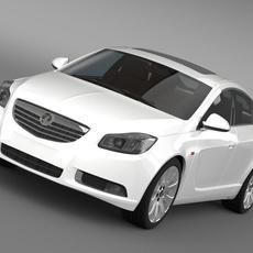 Vauxhall Insignia Hatchback 2009-2013 3D Model