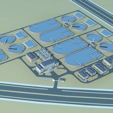 Water and Sewage Treatment Plants 3D Model