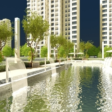 Multi Residential Building 004 3D Model