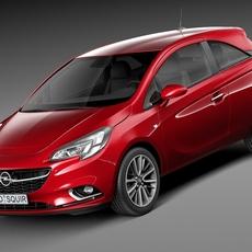 Opel Corsa 3-door 2015 3D Model