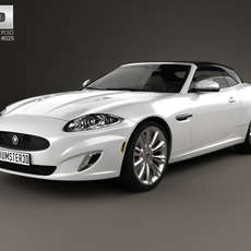 Jaguar XK convertible 2011 3D Model