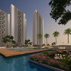 High Rise Residential Building 042 3D Model