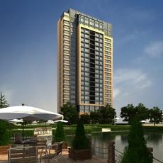 High Rise Residential Building 053 3D Model