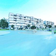 Multi Residential Building 054 3D Model