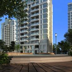 High Rise Residential Building 057 3D Model